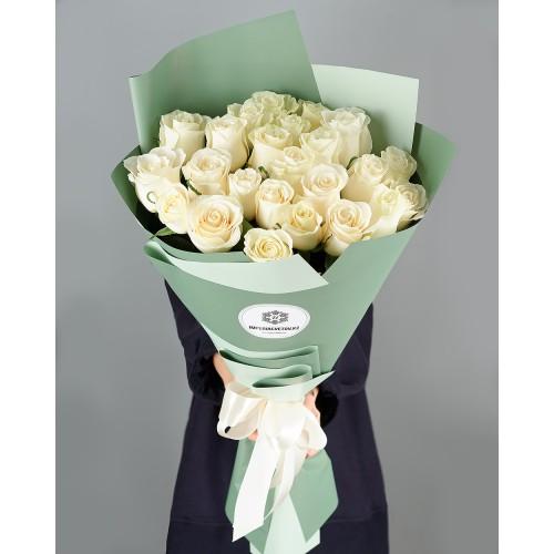 Купить на заказ Заказать Букет из 25 белых роз с доставкой по Рудному с доставкой в Рудном