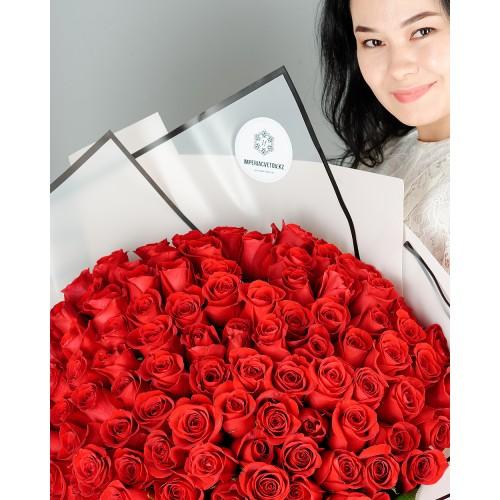 Купить на заказ Заказать Букет из 101 красной розы с доставкой по Рудному с доставкой в Рудном