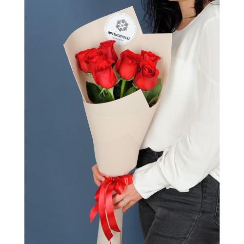 Купить на заказ Заказать Букет из 7 роз с доставкой по Рудному с доставкой в Рудном