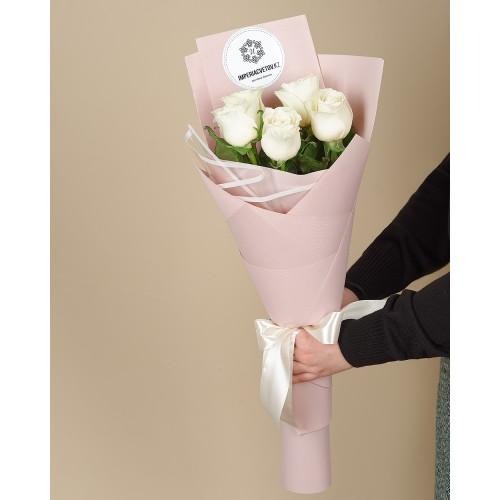 Купить на заказ Заказать Букет из 5 роз с доставкой по Рудному с доставкой в Рудном