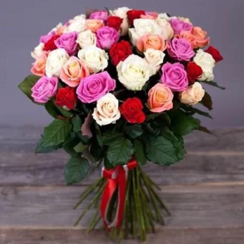 Купить на заказ Заказать Букет из 31 розы (микс) с доставкой по Рудному с доставкой в Рудном